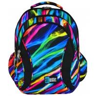 Trzykomorowy plecak szkolny St.Right 29 L, New Illusion BP2