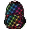 Dwukomorowy plecak szkolny St.Right 26 L, Neon Squares