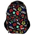 Dwukomorowy plecak szkolny St.Right 26 L, Badges