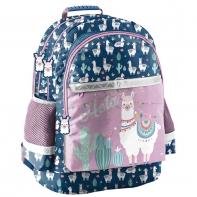 Lekki plecak szkolny dla dziewczynki Paso, LAMA