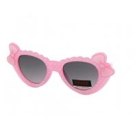 Okulary przeciwsłoneczne dziecięce UV 400 GROSZKI, różowo-białe