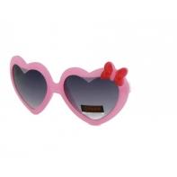 Okulary przeciwsłoneczne dziecięce UV 400 SERCA różowo-białe