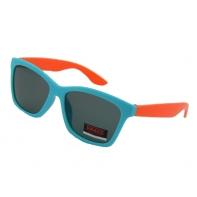 Okulary przeciwsłoneczne dziecięce UV 400, NIEBIESKO-POMARAŃCZOWE