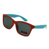 Okulary przeciwsłoneczne dziecięce UV 400, CZERWONO-NIEBIESKIE