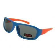 Okulary przeciwsłoneczne chłopięce UV 400, NIEBIESKO-POMARAŃCZOWE