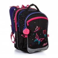 Plecak trzykomorowy dla dziewczynki Topgal COCO 20004 MOTYLE