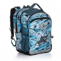 Plecak trzykomorowy dla chłopca Topgal COCO 20016 ODRZUTOWIEC