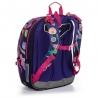 Dwukomorowy plecak dla dziewczynki Topgal KIMI 20010 LIŚCIE