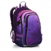 Trzykomorowy plecak dla dziewczynki Topgal LYNN 20008 GWIAZDKI