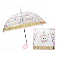 Automatyczna - przezroczysta głęboka parasolka dziecięca, małpka