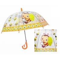 Automatyczna - przezroczysta głęboka parasolka dziecięca, pszczółki