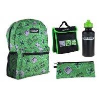 Zestaw plecak, piórnik, bidon i torba termiczna MINECRAFT Astra