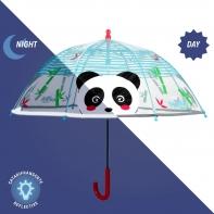 Głęboka parasolka dziecięca z odblaskową lamówką PANDA