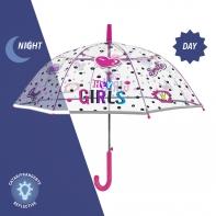 Parasolka dziecięca z odblaskową lamówką HEY GIRLS