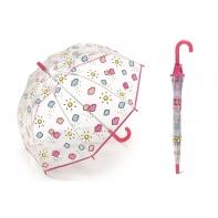 Przezroczysta GŁĘBOKA parasolka dziecięca Benetton, CHMURKI