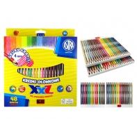 Kredki ołówkowe sześciokątne XXL 48 kolorów Astra
