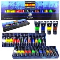Farby tempera Astra ARTEA 12 kolorów tuba 20ml