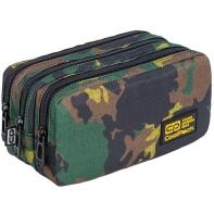Piórnik szkolny trzykomorowy Coolpack Primus Military Jungle