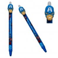 Długopis wymazywalny Colorino Marvel AVENGERS CAPITAN AMERYKA, niebieski
