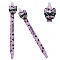 Długopis wymazywalny Colorino BULLDOGS PIESEK, różowy
