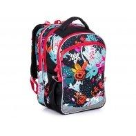 Plecak trzykomorowy dla dziewczynki Topgal COCO 21006 G KWIATY