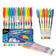 Derform długopisy żelowe KIDEA 12 kolorów