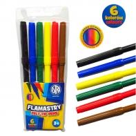 Flamastry Astra 6 kolorów