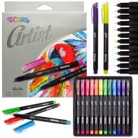 Cienkopisy 12 kolorów ARTIST Colorino
