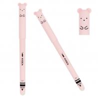 Długopis różowy chomik, ścieralny, wymazywalny, Kidea