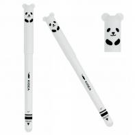 Długopis biały chomik, ścieralny, wymazywalny, Kidea