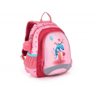 Plecak przedszkolny dla dziewczynki Topgal SISI 21024 G + puchata przywieszka