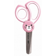 Nożyczki dla dzieci zaokrąglone końcówki różowy chomik
