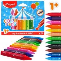 Kredki świecowe Maped JUMBO ColorPeps 12 kolorów