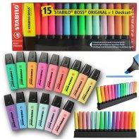 Zakreślacz Stabilo Boss Zestaw 15 kolorów w etui