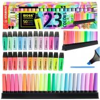 Zakreślacz Stabilo Boss Zestaw 23 kolory + podstawka