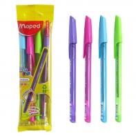Maped długopis Ice Fun zestaw 4 kolory