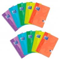 10 zeszytów Oxford SWEET A5 linia podwójna kolorowa 32 kartki