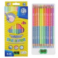 Kredki ołówkowe dwustronne pastelowe kolory Astra 12szt.