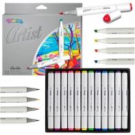Markery do szkicowania 12 kolorów ARTIST Colorino