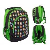 Plecak szkolny trzykomorowy Astra Minecraft