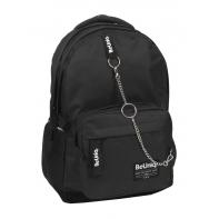 Lekki plecak młodzieżowy Paso BeUniq, czarny