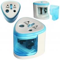 Temperówka elektryczna automatyczna podwójna Strigo, niebieska