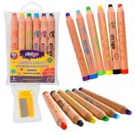 Kredki drewniane jumbo 6 kolorów dla malucha, Strigo