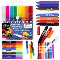 Flamastry zmieniające kolory Kidea 8szt. 14 kolorów