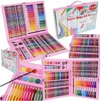 Zestaw plastyczny Art Set 168 elementów dla dziewczynki różowy