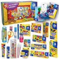 MEGA wyprawka szkolna dla pierwszoklasisty, art. plastyczne i papiernicze ASTRA