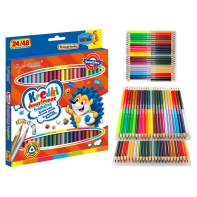 Kredki ołówkowe DWUSTRONNE trójkątne Bambino 24 szt./48 kolorów