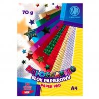 Blok papierów holograficznych Astra 10 arkuszy 70g