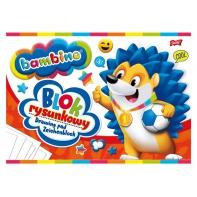 Blok rysunkowy BAMBINO 20 białych kartek A4 Unipap