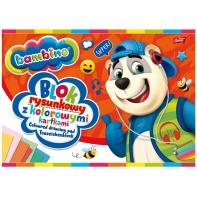 Blok rysunkowy BAMBINO 16 kolorowych kartek A4 Unipap